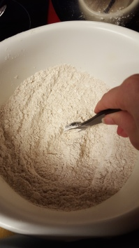 Mixing all the dry ingredients